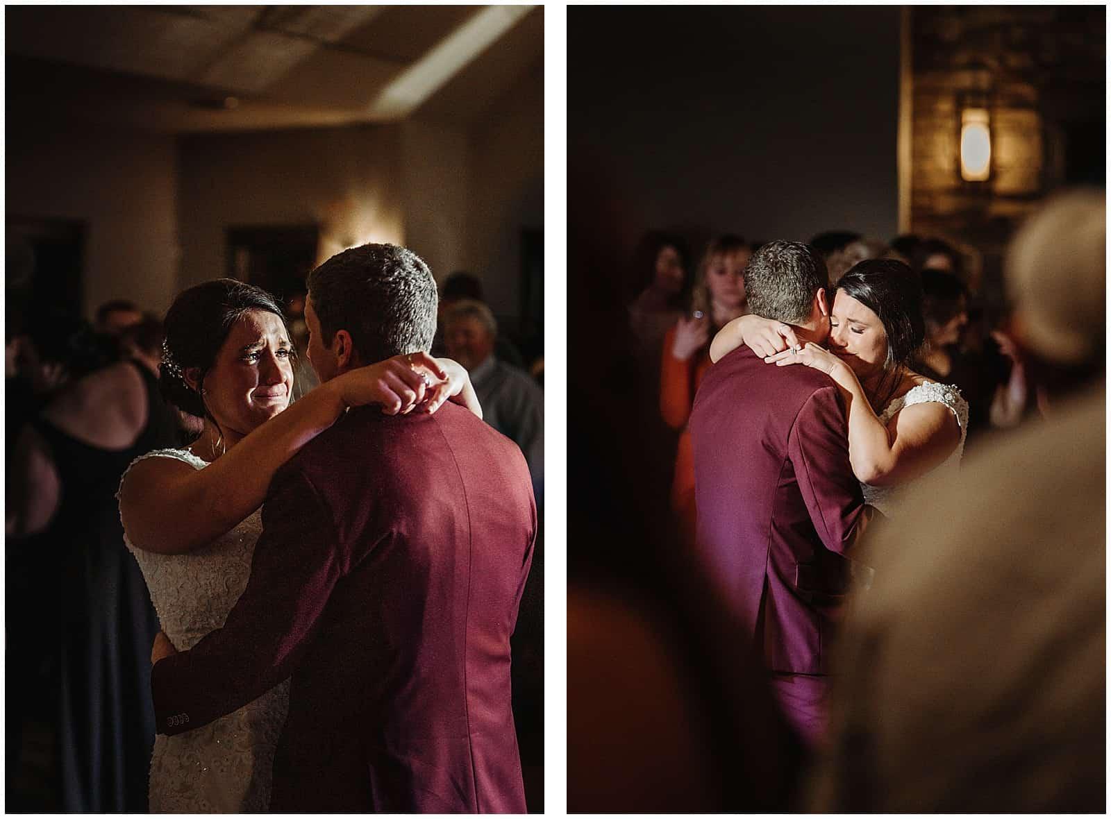 wedding shot at hidden greens in Hastings, Minnesota